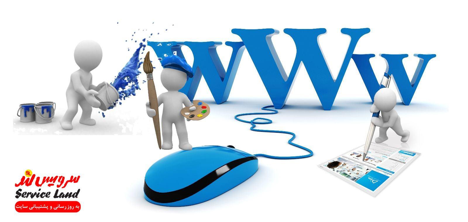 پشتیبانی محتویات سایت